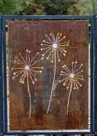 Pusteblumen aus Corten-Stahl